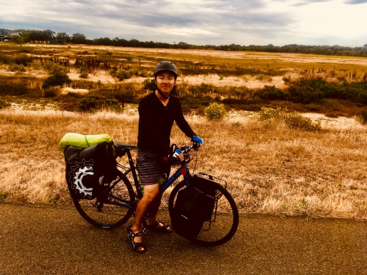 My first meeting with a fellow pedlar. Japanese bloke cycling from Adelaide to Melbourne